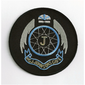 HGJ Johnsons Cafe 75mm Diameter Vintage Embroidered Patch