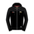Hoodie Zip Black/Jacket Material Shoulder/Arms Official Adult TT - 15AH8