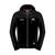 Hoodie Zip Black/Jacket Material Shoulder/Arms Official Adult TT - 15AH8