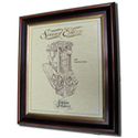 JAP Speedway Gold Leaf Limited Edition Engine Drawing