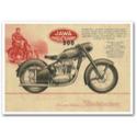 JAWA 500 Vintage Motorcycle Poster
