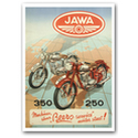 JAWA Vintage Motorcycle Poster