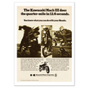 Kawasaki 500 H1 Quarter Mile Motorcycle Classic Advertising Poster