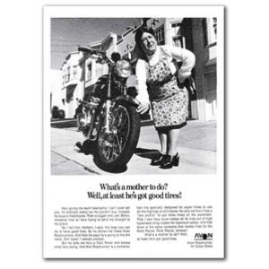 Kawasaki Z900 Mother Motorcycle Classic Advertising Poster
