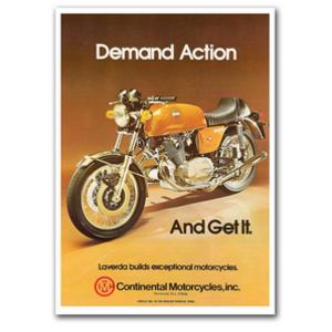 LAVERDA Action Motorcycle Vintage Poster