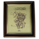 Limited Edition Gold Leaf Classic Motorcycle Engine Drawings