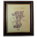 MATCHLESS SUPER CLUBMAN Gold Leaf Limited Edition Engine Drawing