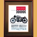 Manx Norton 500 & 350 Advertising Poster