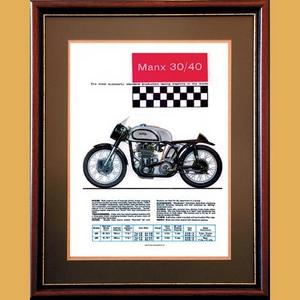 Manx Norton 500 & 350 Advertising Poster