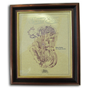 Manx Norton Double Knocker Gold Leaf Limited Edition Engine Drawing
