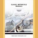 Matchless G5 & X 1937 Instruction book