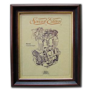 NORTON COMMANDO Gold Leaf Limited Edition Engine Drawing