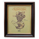NORTON OHV PUSH ROD Gold Leaf Limited Edition Engine Drawing