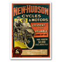 New Hudson Motorcycle Advertising Poster
