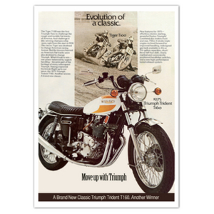 New Triumph Trident T160 Vintage Motorcycle Poster