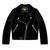OFFICIAL TT Girls Black Biker Jacket 15ZKGJ1
