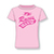 OFFICIAL TT Girls Printed T-Shirt Script Writing 15ZKGTS1