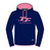 OFFICIAL TT Ladies Navy/Pink Hoodie 16LH1