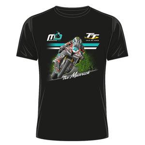 OFFICIAL TT MERCHANDISE 19ATS30 - Michael Dunlop Black T-Shirt