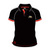 Official Adult TT Black Polo Shirt - Red Trim 16AP2