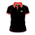 Official Adult TT Polo Shirt - Black Red Collar White Trim 15AP1R