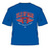 Official Isle of Man TT Blue T-Shirt featuring Red TT Wings