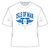Official Isle of Man TT White T-Shirt featuring Blue TT Wings