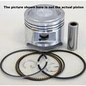 Yamaha Piston - 96cc (RS100, RS100DX, RS100S) 2Strk, CR: 7:1, Year: 1977 on, +.25 MM