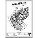 Panther Sloper 600 Engine Spec Poster