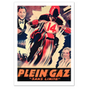 Plein-Gaz Vintage Motorcycle Poster