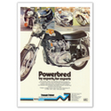 Powerbred Triumph Trident T150 Vintage Motorcycle Poster