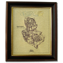 ROYAL ENFIELD Gold Leaf Limited Edition Engine Drawing