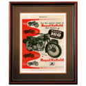Royal Enfield 250 Clipper Advertising Poster