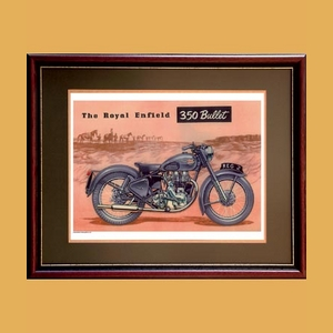 Royal Enfield 350 Bullett Advertising Poster
