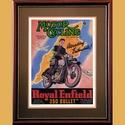 Royal Enfield 350 Bullet IOM Advertising Poster