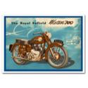 Royal Enfield Meteor 700 Blue Advertising Poster