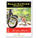 Royal Enfield Pleasure Motorcycle Advertising Poster