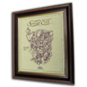 Royal Enfield Vertical Twin Gold Leaf Limited Edition Engine Drawing
