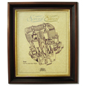 SCOTT 350 Gold Leaf Limited Edition Engine Drawing