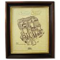 SCOTT 350 Gold Leaf Limited Edition Engine Drawing