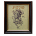 SUNBEAM MODEL 90 Gold Leaf Limited Edition Engine Drawing