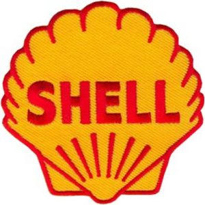 Shell 75mm Diameter Vintage Embroidered Patch