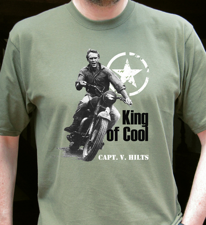 steve mcqueen triumph tee shirt 6am. Black Bedroom Furniture Sets. Home Design Ideas