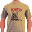 SoCal Panther Retro Motorbike T Shirt (SAND COLOUR)