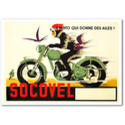 Socovel Motorcycle Races Vintage Poster