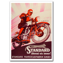 Standard Cycles Motorcycle Vintage Poster