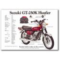 Suzuki GT-250K-HUTLER Vintage Motorcycle Poster