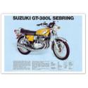 Suzuki GT-380L  Vintage Motorcycle Poster