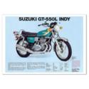Suzuki GT-550L  Indy Vintage Motorcycle Poster