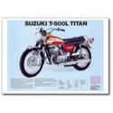 Suzuki T-500L Titan Vintage Motorcycle Poster